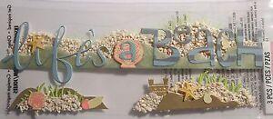 JOLEE-039-S-BOUTIQUE-TITLE-LIFE-039-S-A-BEACH-Craft-Scrapbook-Sticker-Embellishment