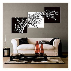 Not framed canvas print large wall decor canvas art for Black and white mural prints