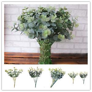 Random-Color-Fake-Eucalyptus-Leaf-Green-Plant-Home-Office-Xmas-Decor-16-Heads