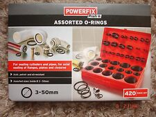 Powerfix Profi assorted O-rings 3mm-50 mm  420/piece set