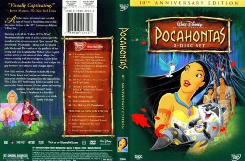 Walt-Disney-039-s-Pocahontas-10th-Anniversary-Edition-2-Disc-DVD