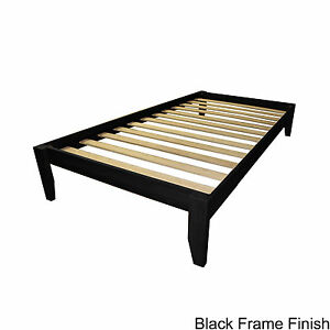 TWIN Solid Bamboo All Wood Platform Bed Frame Choose Finish!!!