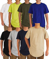 Men's Hip Hop Style Long Elongated T-shirt 8 Colors Size M3xl
