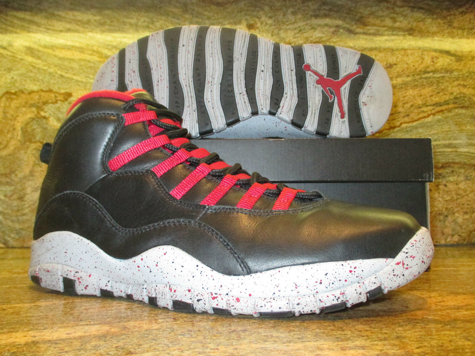 Nike Air Jordan 10 X Retro Promo Sample SZ 11 PSNY Black Public School FNF PE