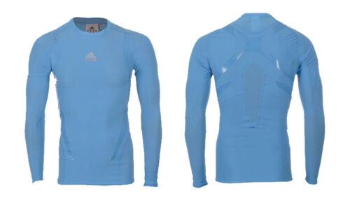 Adidas Techfit Powerweb Shirt L XL langarm Shirt blau Funktionsshirt base layer