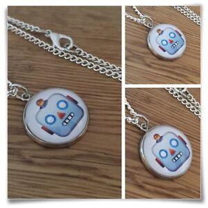 Emoji-face-Robot-Charm-pendant-necklace-txt-geek