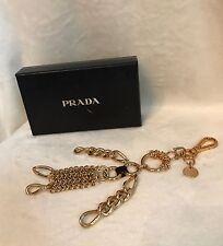 "New In Box PRADA ROBOT EDWARD TRICK Gold Chain ""GIRL"" Metal Keychain Bag Charm"