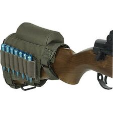 Voodoo Tactical Hunting Buttstock Cheek Piece w/ .308 .300 Ammo Carrier OD Green