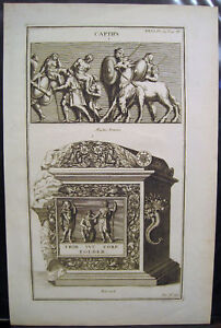 Boissard-034-Captifs-034-and-034-Urnes-Sepulcrales-034-Pair-of-18th-Century-Engravings