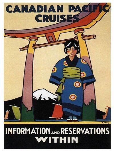 "Japan Art Vintage Travel Poster Japanese Print 12x18"" Rare Hot New XR198"
