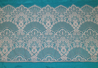 LOT 3 Meters Sector French Style Chantilly Mesh Eyelash Lace Trim Wide 45 CM