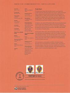 0810-42c-Purple-Heart-4263-64-PSA-amp-WAG-Souvenir-Page