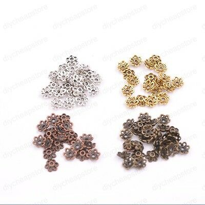 1000PCS Tibetan Silver Glod Bronze Spacer Beads For Jewelry Making 5x4mm