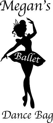 Bolsa De Ballet Personalizado Con Cordón Escuela Zapatos De Baile Club Rosa Regalo