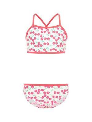 Name It Bustier Bikini Nkfzummeru Weiß Rot Kirschen Größe 122/128 Bis 158/164 üBerlegene (In) QualitäT