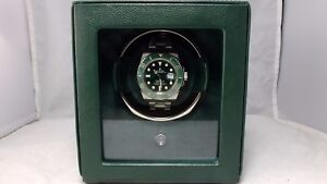 Details About Wolf Cub Rolex Green Watch Winder Box W Cover 461141 2 Year Factory Warranty