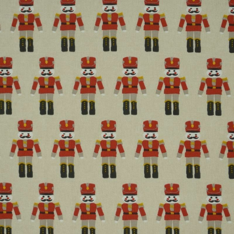 Christmas Beige & rot Toy Soldiers Tablecloth Xmas Oilcloth Wipeclean PVC Vinyl