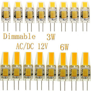 50x-10x-g4-3-W-6-W-COB-Dimmable-DEL-Bulbs-Lights-Lamp-silicones-Crystal-AC-DC-12-V