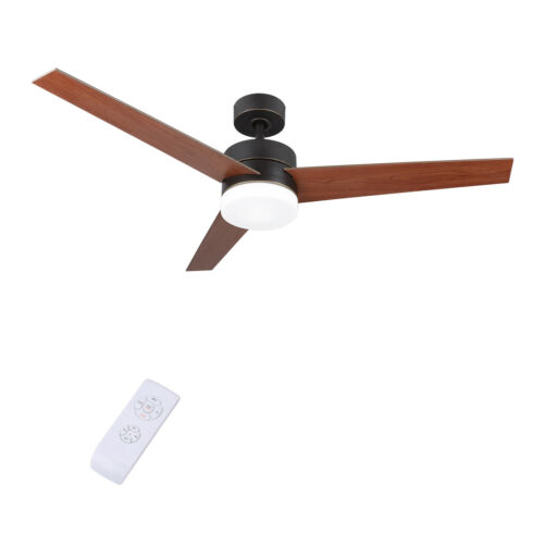 "52/"" 56/'/' Indoor Ceiling Fan LED Light Kit /& Remote Control 2 3 4 5 6 Blades"