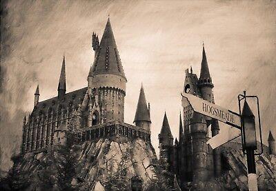 Harry Potter Hogwarts School Top Fantasy Large Poster /& Canvas Picture Prints