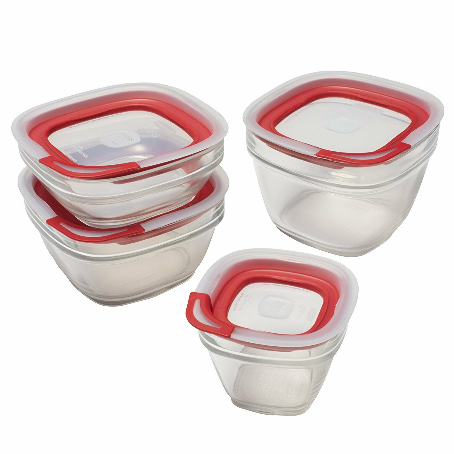 Rubbermaid Easy Find Lids Glass Food Storage Containers 10 Sets eBay
