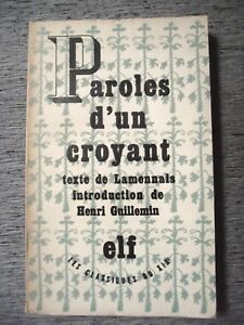 PAROLES-D-039-UN-CROYANT-TEXTE-DE-LAMENNAIS-INTRODUCTION-D-039-HENRI-GUILLEMIN-ELF-1946
