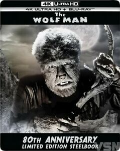4K ULTRA HD + BLU-RAY - THE WOLF MAN   (1941) CLAUDE RAINS  (NIEUW / SEALED)