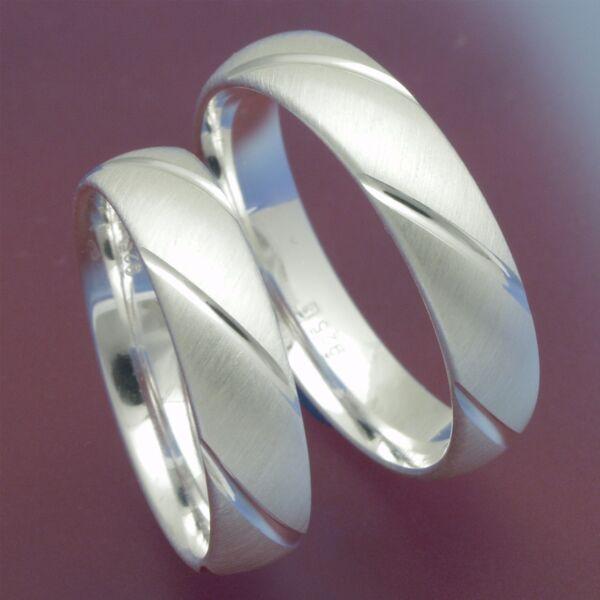 1 Paar 925 Silber Verlobungsringe Eheringe Trauringe Freundschaftsringe P3026074