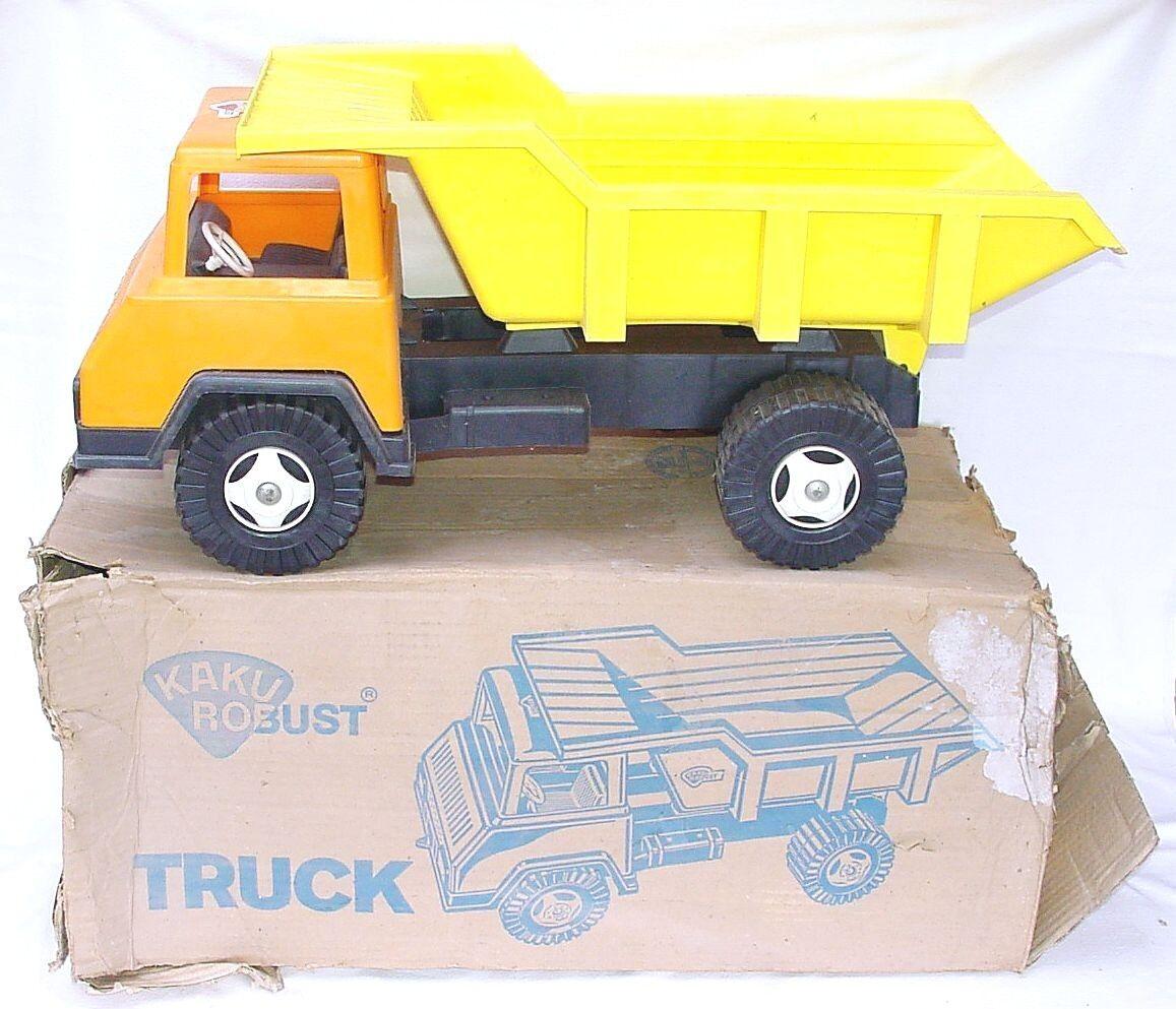 Camión de transporte de Alemania Kaku Ro robusto Tamaño Grande 65 cm Plástico Coche MIB`74 Rara