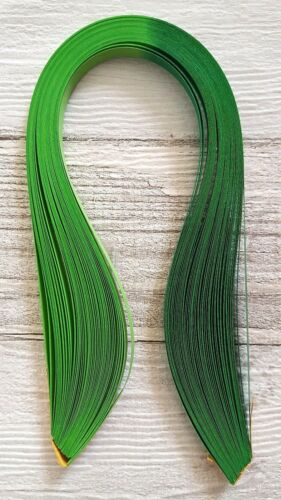 shaded quilling paper strips 10mm wide 50 two tone bright green graduated