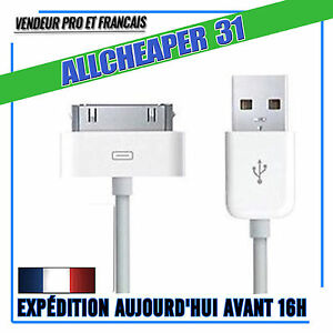 Cables-USB-iPhone-4-4S-3GS-3-iPad-2-3-4-Ipod-Touch-Nano-30-Broches