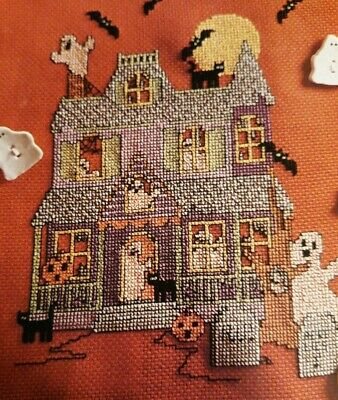 HALLOWEEN HOUSE CROSS STITCH PATTERN ONLY HM EYYP
