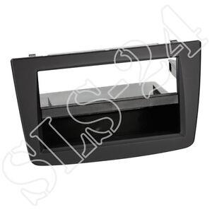 ALFA MITO ab10/13 Einbau Rahmen Doppel-DIN Radio Blende Radioblende+Fach schwarz