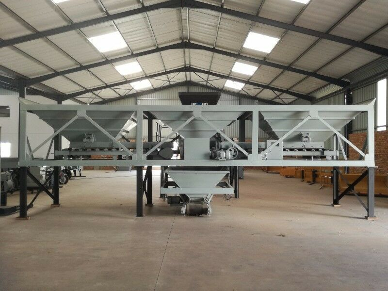 New Revaro RB1200-3 Three Bin Hopper Aggregate Batching Plant Y-Design