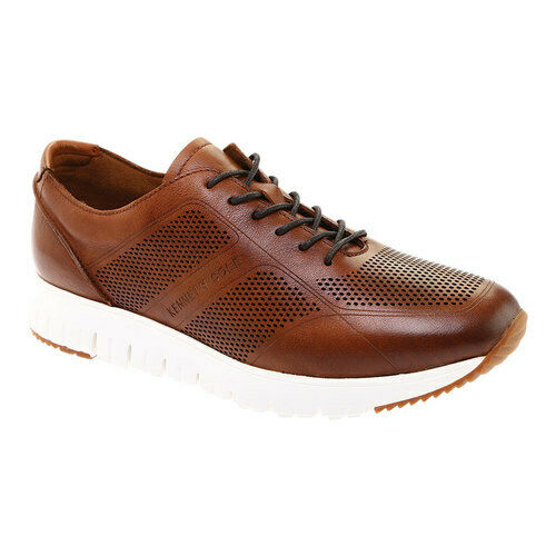 675b534af6a18 Kenneth Cole New York Men's Bailey Jogger Sneaker Cognac Lasered Leather  Size