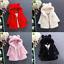 Toddler Kids Girl Faux Fur Fleece Coat Hooded Winter Warm Jacket Parka Outerwear