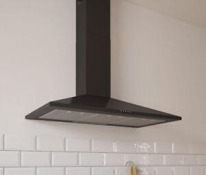 Image Is Loading C Amp L Black Steel 90cm 900mm Kitchen