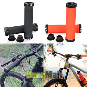 Bike Grips Rubber Mountain Bicycle MTB Handlebar Ergonomic Cycling Lock On Ends