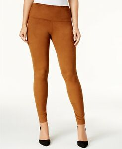 Style Co Faux Suede Pull On Comfort Weist Leggings Women Brown XS L XL Being L