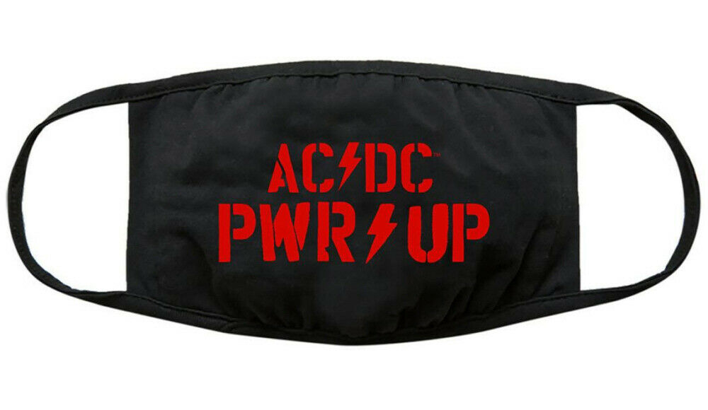 AC/DC - Official Pwr Up Logo Face Mask Covering. Power Up