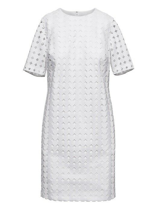 Banana Republic Lace Shift Dress, sz 6  138 White