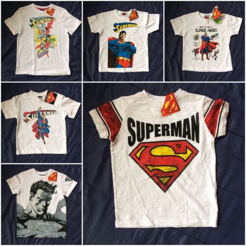 Official genuine dc comics superman super hero t-shirt tee filles garçons enfants