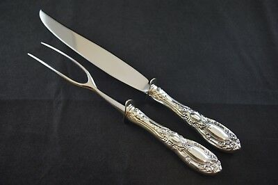 Small Towle King Richard Sterling Silver Handled Carving Set