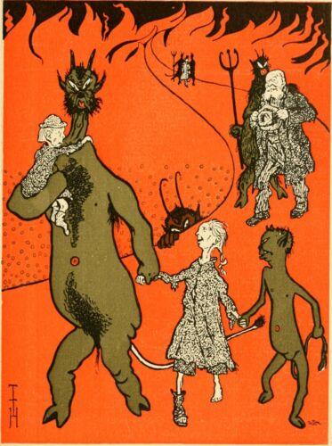 Zur Kohlennot Von Thomas Odor Heine Devils Satan Demons Occult 7x5 Inch Print