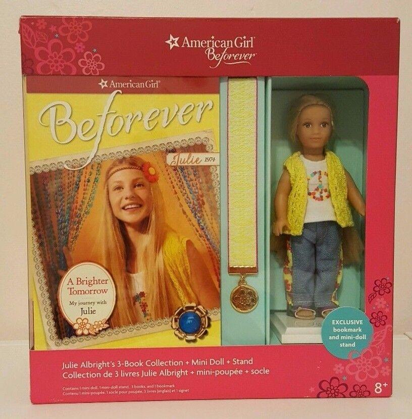 NIB American Girl Julie Albright 1974 Beforever Mini Doll And 3 Books Box Set