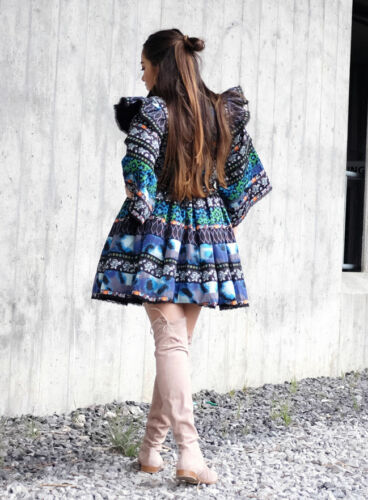 24ebb21299e2 Size H Kenzo Small amp;m Patterned Blue Green Dress qqgYUrx