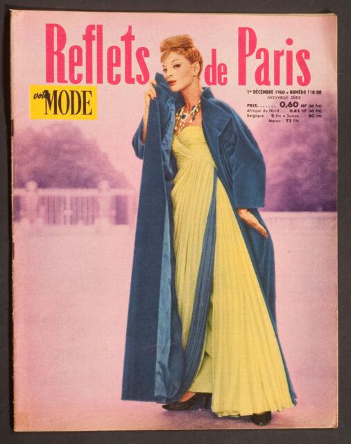 'REFLETS DE PARIS - VOTRE MODE' FRENCH VINTAGE MAGAZINE 1 DECEMBER 1960