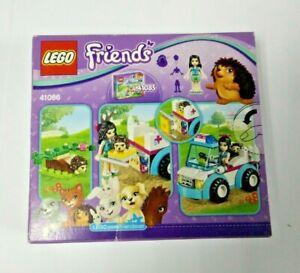 LEGO-friends-41086-ambulanza-degli-animali-costruzioni-89-pezzi-scatola-rovinata