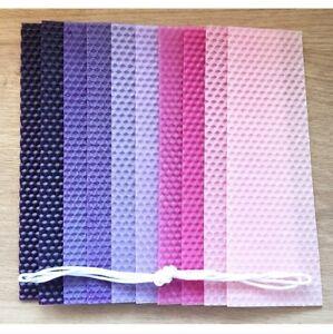 10 hojas de cera de abejas Kit de fabricación de vela instrucción cera de color Mecha