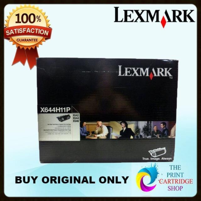 New & Genuine Lexmark X644H11P Black Toner Cartridge X642 X644 X646 Pages 21K